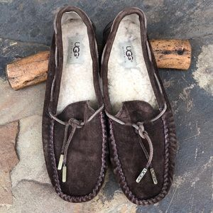 UGG brown suede moccasin flats